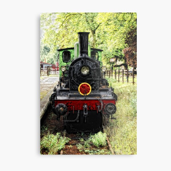 Old Steam Train Metal Print
