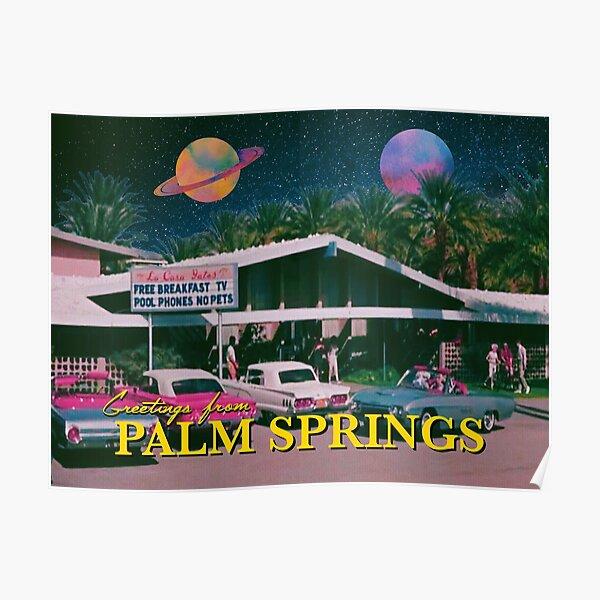 saludos desde palm springs Póster