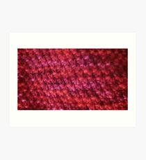 Seed Stitch - Malabrigo Worsted Yarn Amoroso Art Print