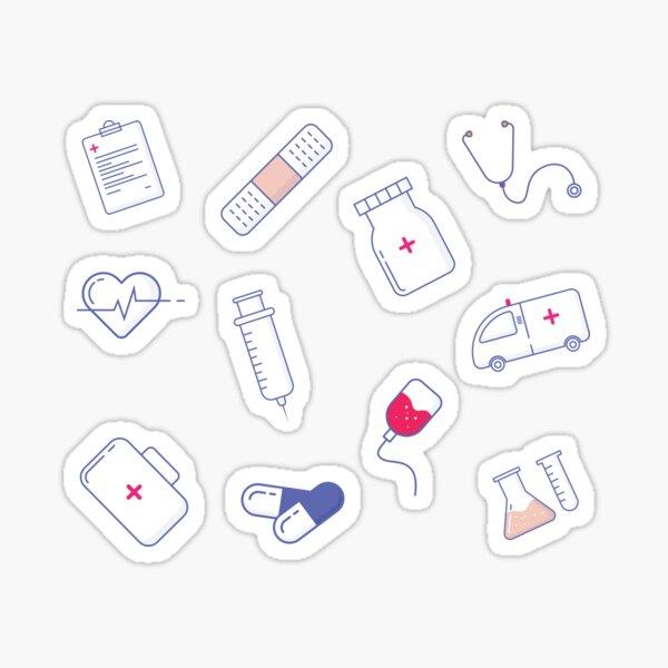 Medical pattern - Gift for healthcare worker NHS Sticker