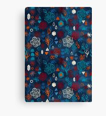 Earth, Water, Fire, Air - a watercolor pattern Canvas Print