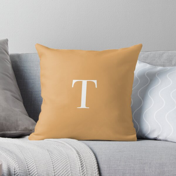 "The Letter ""T"" - Light Clay Throw Pillow"
