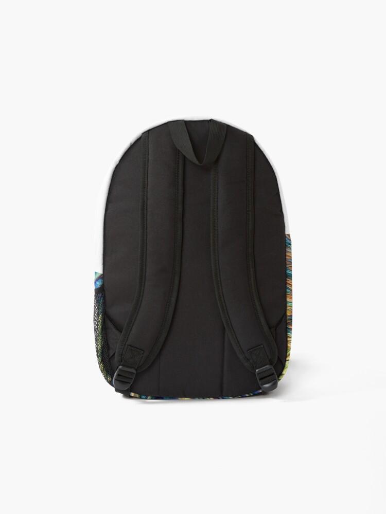 Alternate view of #DeepDreamed Cat Backpack