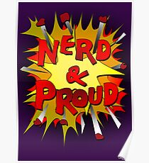 Nerd and Proud Poster