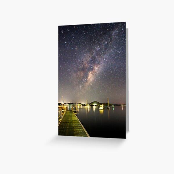 Galaxy Rise Greeting Card