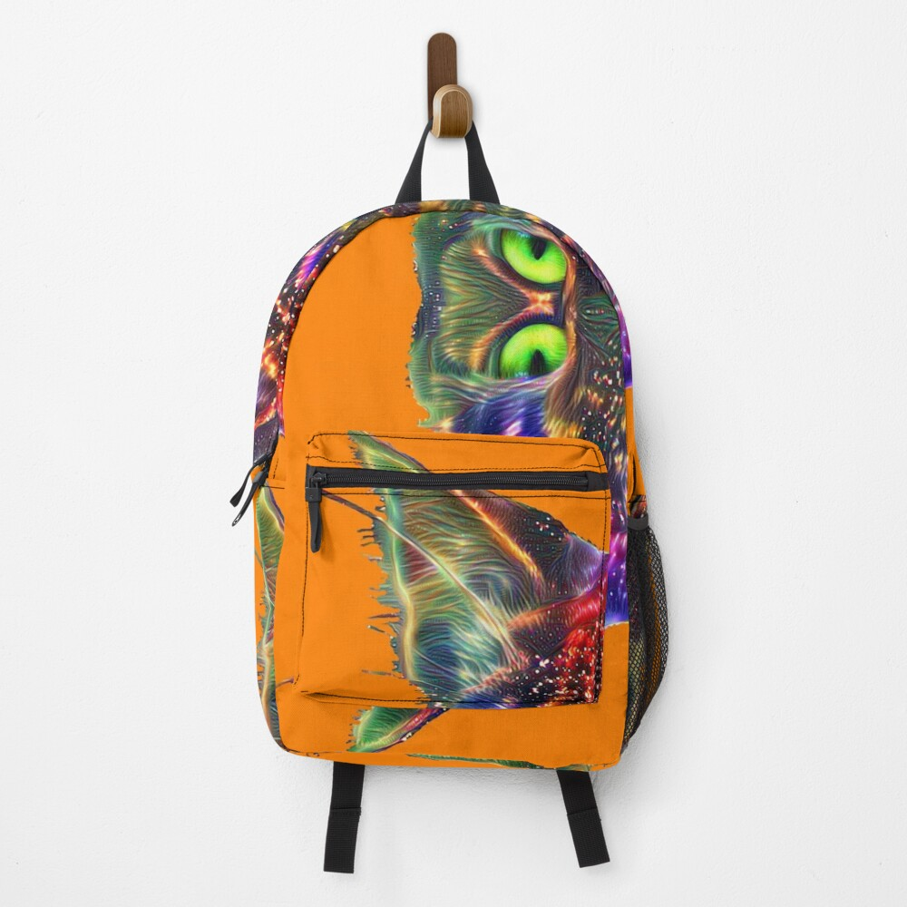 Artificial neural style Space galaxy mirror cat Backpack