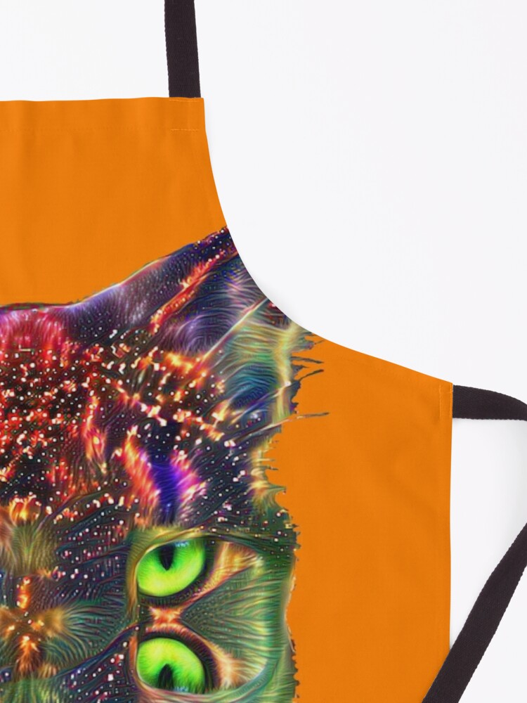 Alternate view of Artificial neural style Space galaxy mirror cat Apron