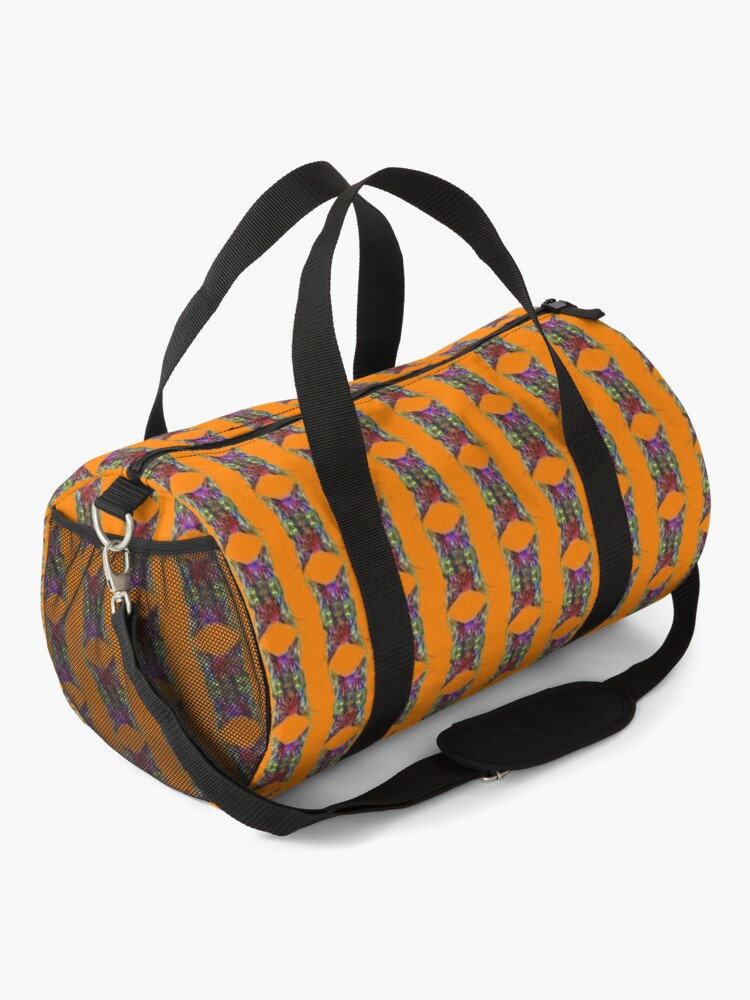 Alternate view of Artificial neural style Space galaxy mirror cat Duffle Bag
