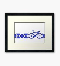 Bike Stripes King of the Mountains (Blue) Framed Print