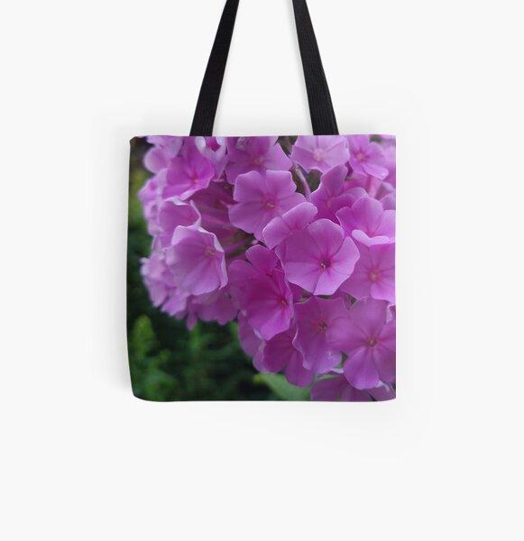 Fuchsia Flower Hydrangeas Photo Design All Over Print Tote Bag