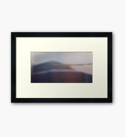 nothing but a shadow on the wall Framed Print