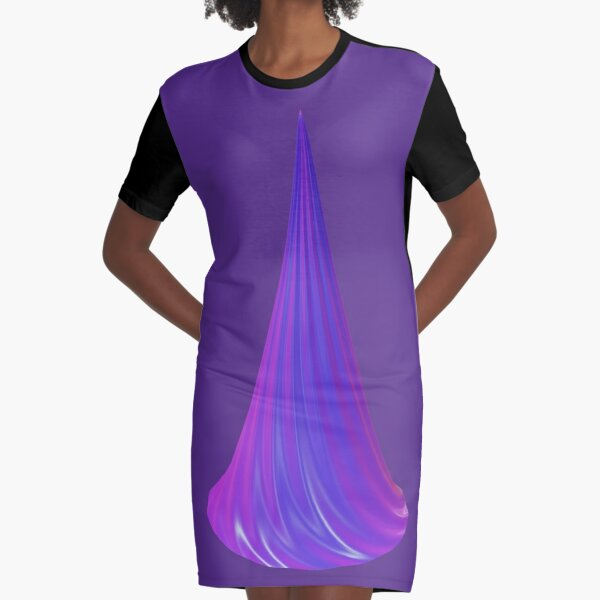 Shimmering purple-pink horn Graphic T-Shirt Dress