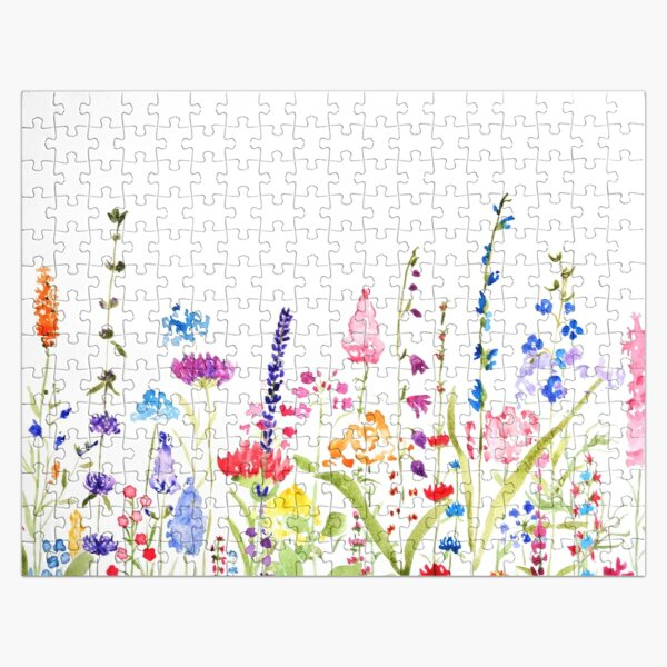 colorful wild flower field  Jigsaw Puzzle