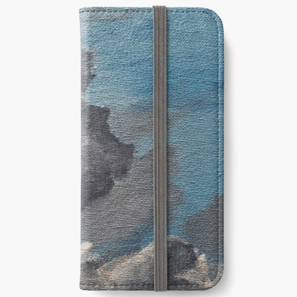 Clouds, Acrylic Paintings, Nature, Sky iPhone Wallet
