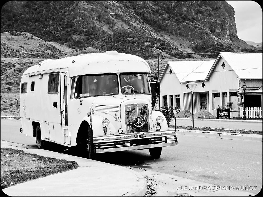 Old Bus in the street. by ALEJANDRA TRIANA MUÑOZ