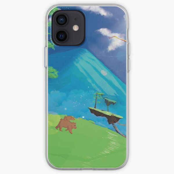 Mother Bear Walking with Her Cub  iPhone Soft Case