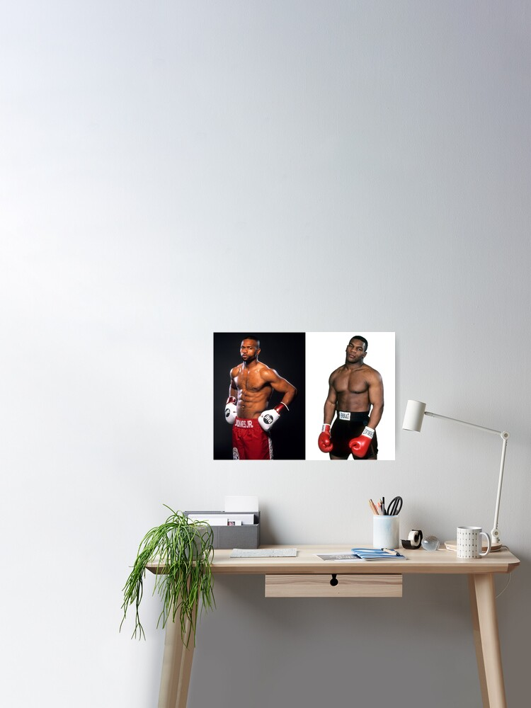roy jones jr vs mike tyson poster by supercf redbubble redbubble
