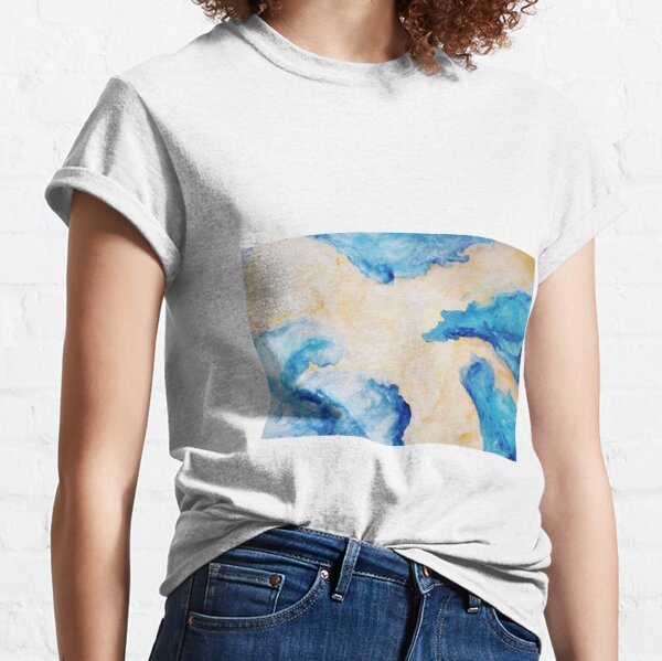 Orange and Blue, Sky, Space, Classic T-Shirt