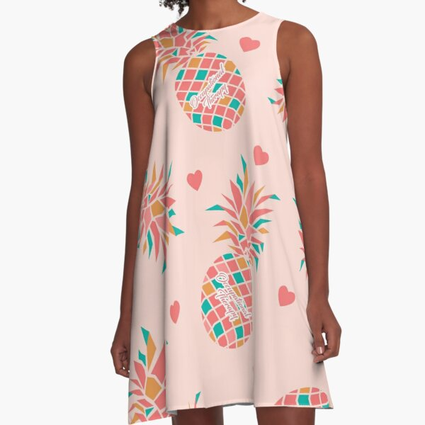 Pineapple OT Love Occupational Therapy A-Line Dress