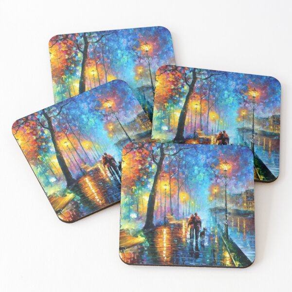 melody of the night by afremov Coasters (Set of 4)