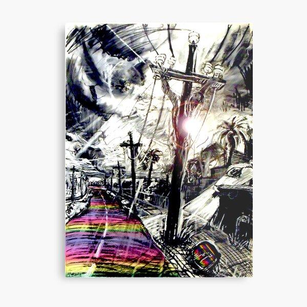 Rainbow Christ Metal Print