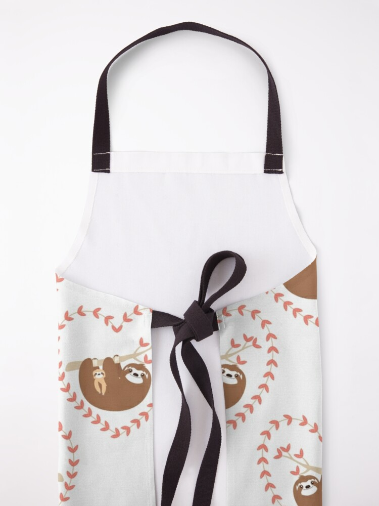 Alternate view of Mom and Baby Sloth Apron
