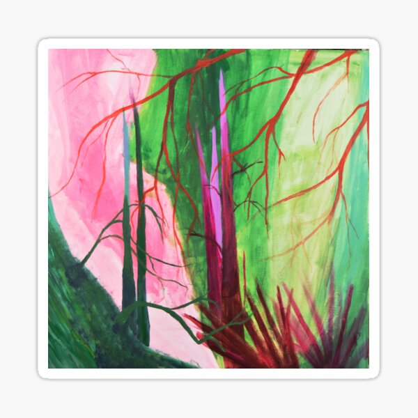 Divided, Trees, Colors, Leaves, Nature Sticker