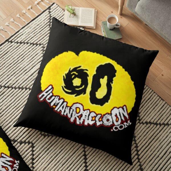 Human Raccoon Logo Floor Pillow