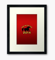 Happy Chinese New Year 2014 T-Shirts Gifts Framed Print