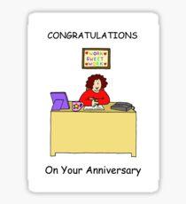 Congratulations on work anniversary for female. Sticker