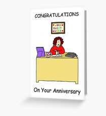 Congratulations on work anniversary for female. Greeting Card