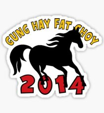 Happy Chinese New Year 2014 T-Shirts Gifts Sticker
