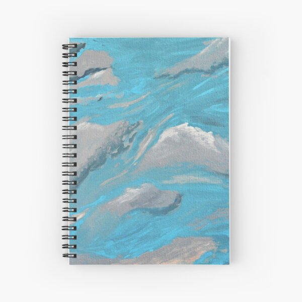 Cloud Wave, Sky, Moving, Wind,  Spiral Notebook