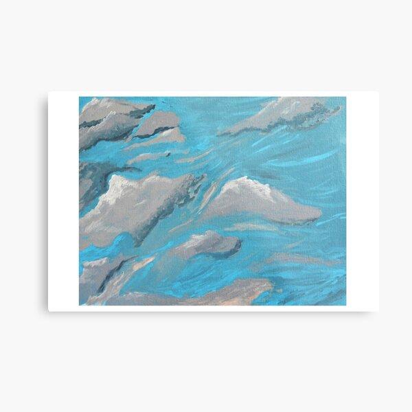 Cloud Wave, Sky, Moving, Wind,  Metal Print