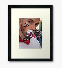 No hate  Framed Print