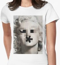 The Bombshell Emoticon Womens Fitted T-Shirt