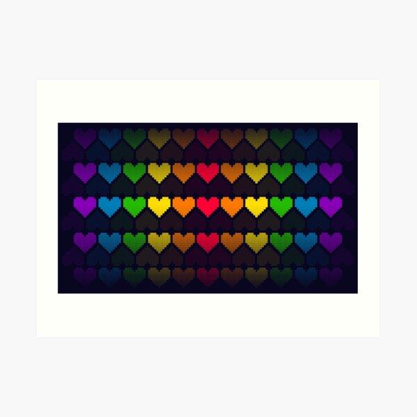 Rainbow lives Art Print