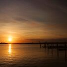 Sunset in Sea Bright by Debra Fedchin