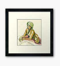Green Blond Framed Print