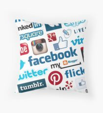 Social media Throw Pillow