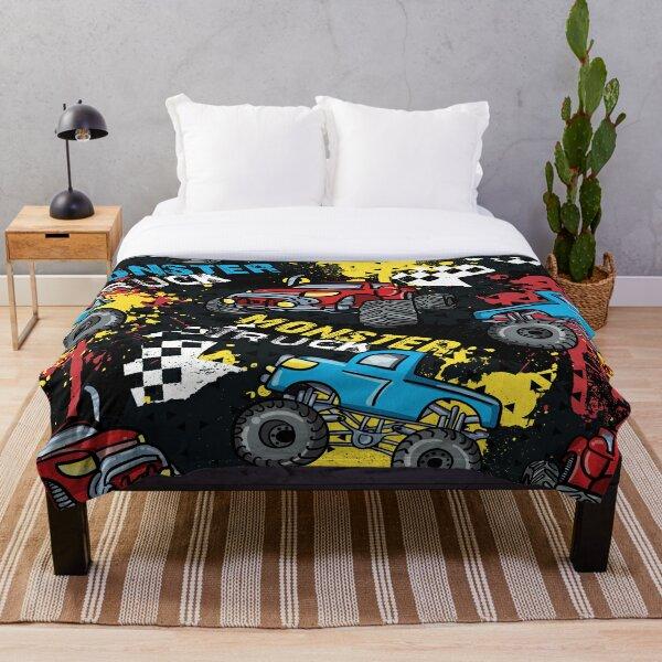 Cool Monster truck pattern Throw Blanket