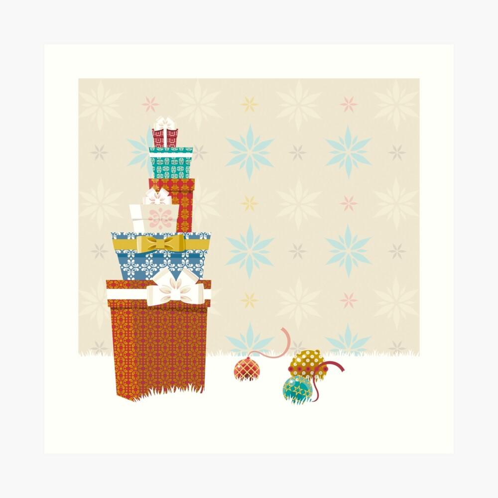 Gifts. Christmas time. Art Print