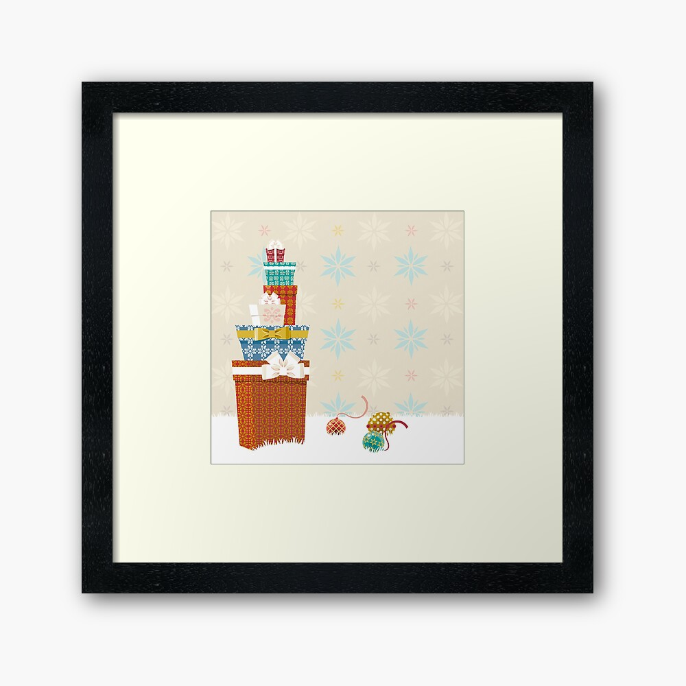 Gifts. Christmas time. Framed Art Print