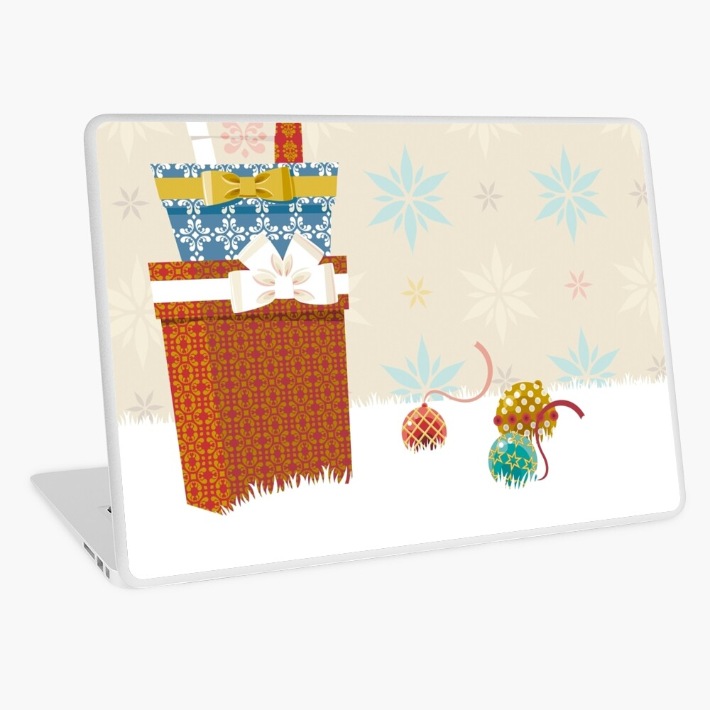 Gifts. Christmas time. Laptop Skin