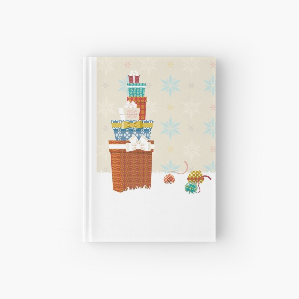 Gifts. Christmas time. Hardcover Journal