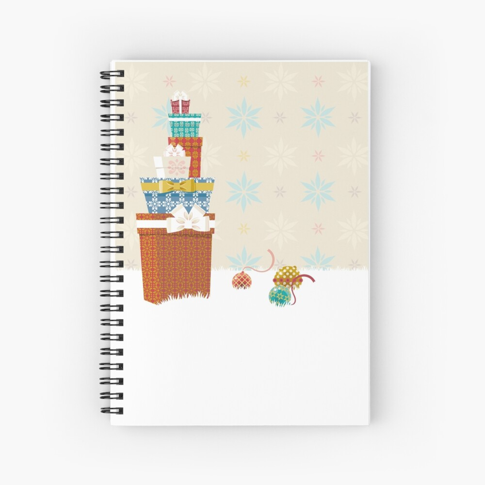 Gifts. Christmas time. Spiral Notebook