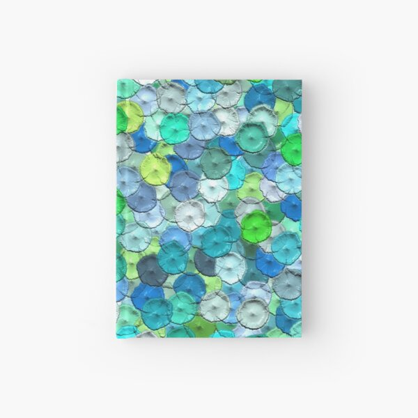 Dots Points in Blue/Green acryl painting Notizbuch