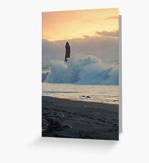 A big wave at dawn Greeting Card