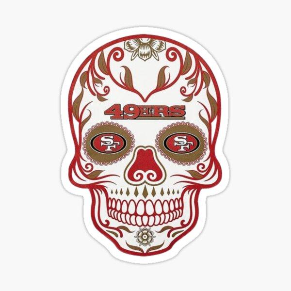 49ers sugar skull Sticker