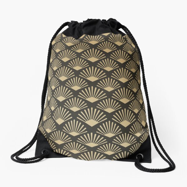 Retro Gatsby Pattern Drawstring Bag